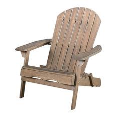 GDFStudio   Milan Outdoor Folding Wood Adirondack Chair, Gray   Adirondack  Chairs