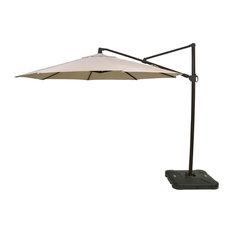 11' Offset Outdoor Umbrella with Black Pole, Neutral