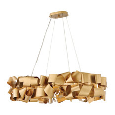 Hinkley Delfina Chandelier 6-Light Linear, Deluxe Gold