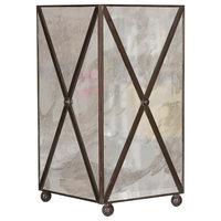 X Hatch Wastebasket, Antique Mirror