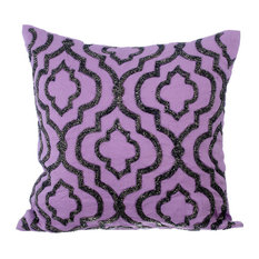 Purple Throw Cushion Cover, Cotton, Bewitched, 40x40 cm