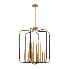 "Minka Lavery 4069-660 Liege 12 Light 28"" Wide Chandelier, Aged Kinston Bronze /"