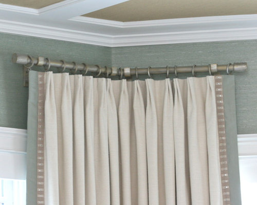 Best Corner Curtain Rod Design Ideas & Remodel Pictures | Houzz