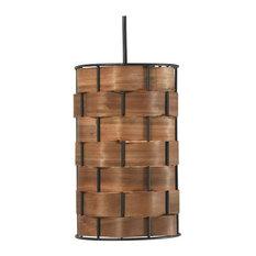 kenroyhome.com - Shaker 1-Light Mini Pendant, Dark Woven Wood - Pendant