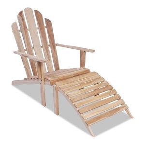 vidaXL Teak Adirondack Chair