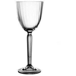 Fluted Lead Crystal Wine Glasses, Set of 6