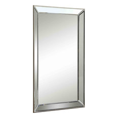 Coast to Coast Imports, LLC - Rectangular Floor Mirror, Maria Champagne Gold - Floor Mirrors