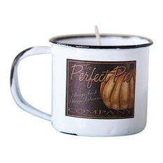 Soy Candle in Enamelware Cup, Pumpkin Spice