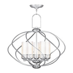 Brushed Nickel Candle Chandelier