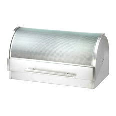Home Basics Stainless Steel Bread Box, Stainless Steel