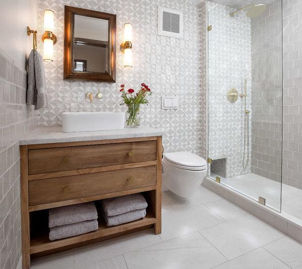 Transitional Bathroom by Newschool Builders LLC