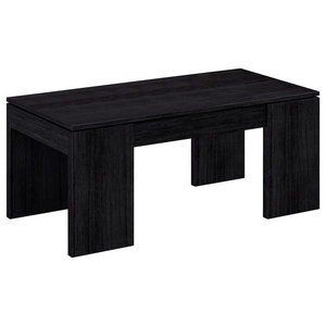 Kendra Lift-Up Coffee Table, Black