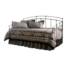 Residence Halsey Metal Daybed With Trundle Bed Pop Up Frame Black Walnut