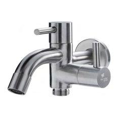 Hose Bibb with Faucet