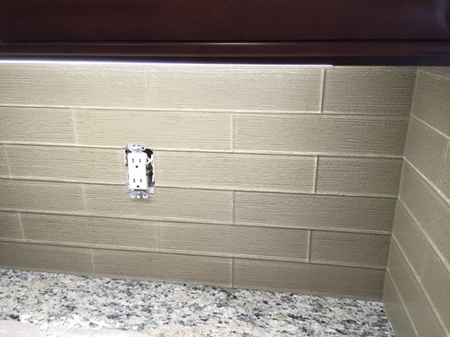 Kitchen backsplash grout or no grout for Bathroom floors without grout