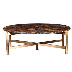 Veneto Table   Oval Coffee Table GEM Blue Tiger Eyes   Coffee Tables
