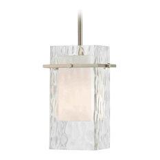 Satin Nickel Mini-Pendant Light with Water Glass