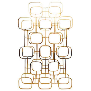 Gavi Large Wine Rack, Brass