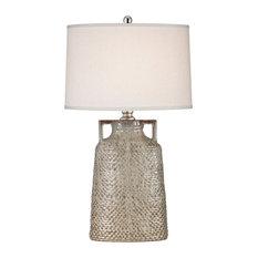Naxos 1-Light Table Lamp, Charring Cream Glaze