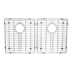 """50/50 Stainless Steel Double Bowl Kitchen Sink Bottom, Set of 2, 15""""x13"""""""