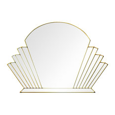 Venus Original Handcrafted Art Deco Wall Mirror, 100x70 cm, Gold