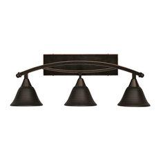 Bathroom Vanity Lights In Black copper bathroom vanity lights with a black shade | houzz