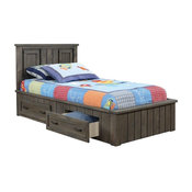 Owen Distressed Gray Panel Storage Bed, Full Size