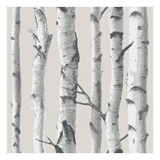 Birch Trees Wallpops Wallpaper Peel and Stick Wallpaper NU1650, Roll