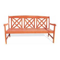 5-foot Wood Garden Bench