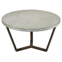 "Sterling Industries Mettle - 31.5"" Side Table, Bronze/Galvanized Steel Finish"