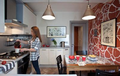Houzz тур: Небольшая квартира с яркими деталями