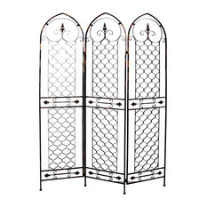 Firefly Home Collection Hollis Metal Room Dividing Screen Screens And Room Dividers