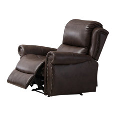 Carmelo Recliner Chair With Manual Handle Brown