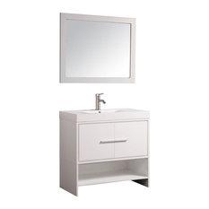 """Cypress 36"""" Single Sink Bathroom Vanity Set, White"""