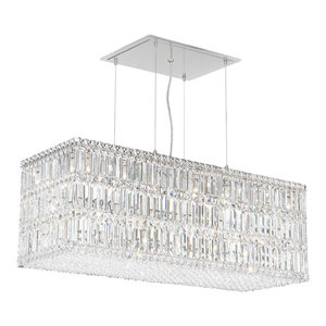 Quantum 33-Light Pendant in Stainless Steel With Clear Spectra Crystal