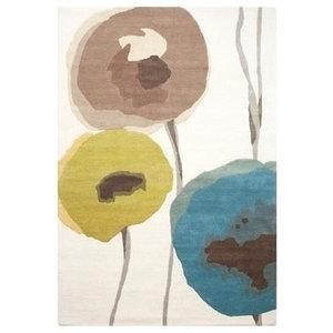 Sanderson Poppies Rug, Blue, 140x200 cm