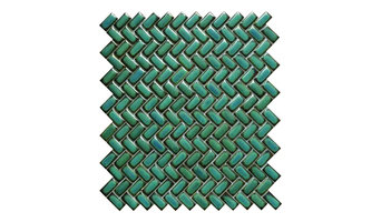 """11.3""""x12.8"""" Tango Aquos Porcelain Mosaic, Set of 50"""