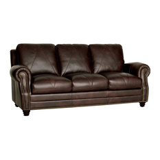 Genuine Italian Leather Sofa in Chocolate Brown