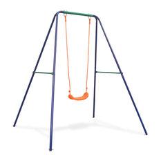 vidaXL Single Swing Orange Outdoor Garden Kids Children Activity Playset Frame