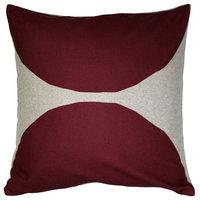 Pillow Decor - Kukamuka Luonto Scandinavian Kivi Throw Pillow 22x22, Red