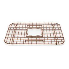 """Sullivan 18"""" Copper Kitchen Sink Grid, Antique Brown"""