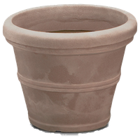 Brunello Planter, Weathered Stone, 16""