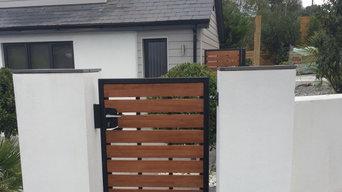Metal Frame Wooden Gates