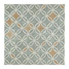 "SomerTile 7.75""x7.75"" Puccini Ceramic Floor/Wall Tiles Full, Set of 25"
