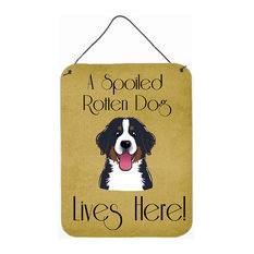 Bernese Mountain Dog Spoiled Dog Lives Here Wall/Door Hanging Print
