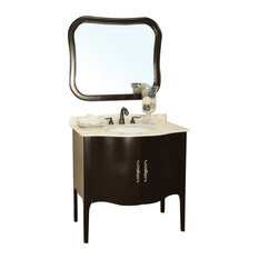 "37"" Taditional Single Sink Bathroom Vanity"