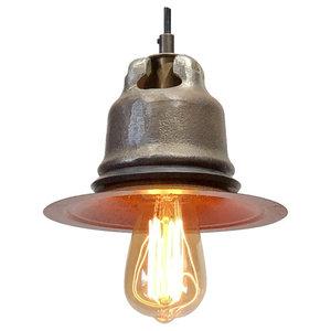 Industrial Light Pendant - Cast Steel, Edison Bulb
