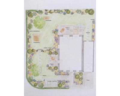План участка by Sybille Israel Design