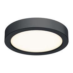"DALS Lighting Indoor/Outdoor 6"" Round LED Flushmount, Black"