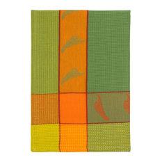 "100% Cotton Kiwi Orange and Yellow 20""x28"" Dish Towel, Set of 6, Chilies Kiwi"